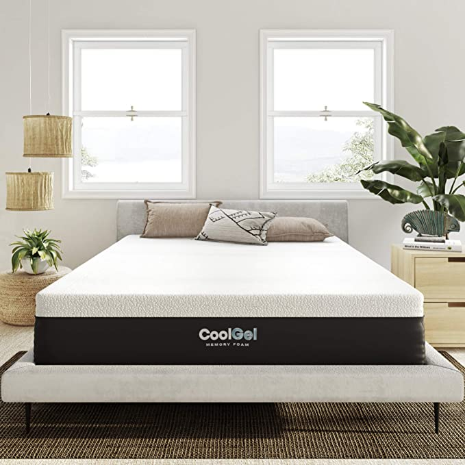 Cool Blue Memory Foam Spring Mattress Small Double King Size Roll Up Mattresses