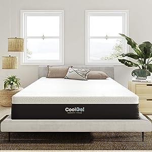 Classic Brands Cool Gel Ventilated Memory Foam 12-Inch Mattress   CertiPUR-US Certified   Bed-in-a-Box, Twin XL