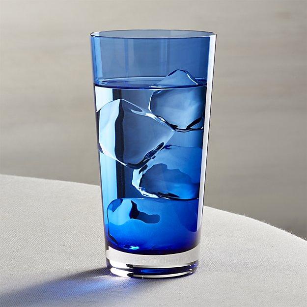 Cobalt Highball Glass | Crate and Barrel
