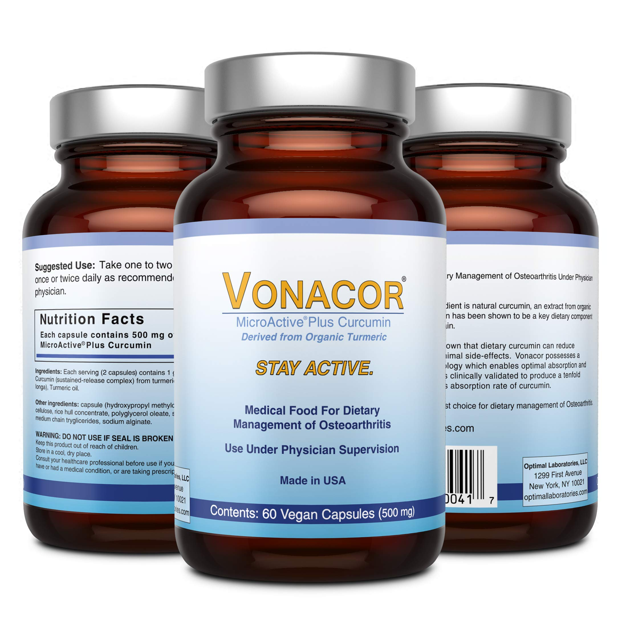 Vonacor Microactive Curcumin by Optimal Laboratories