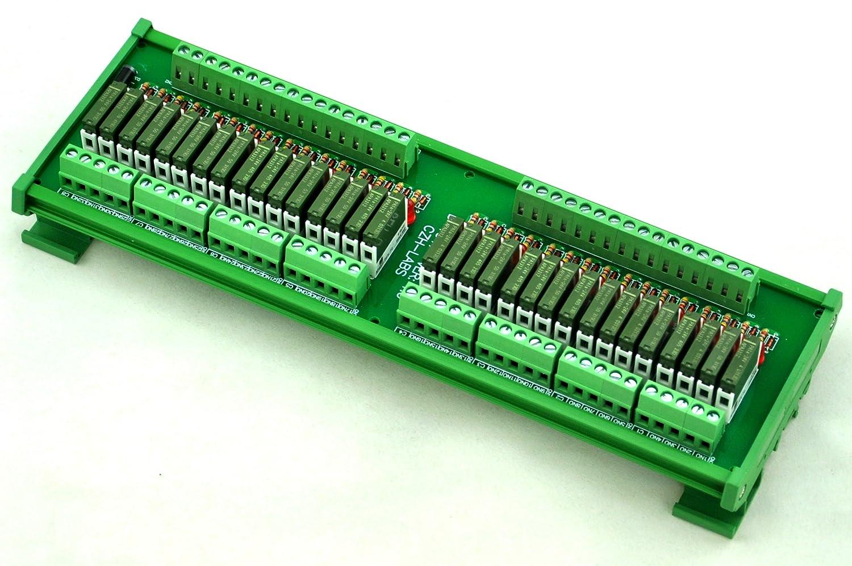 Electronics-Salon Slim DIN Rail Mount 24 V DC Quelle//PNP 8 spst-no 5 A Power Relay Modul PA1 a-24 V.
