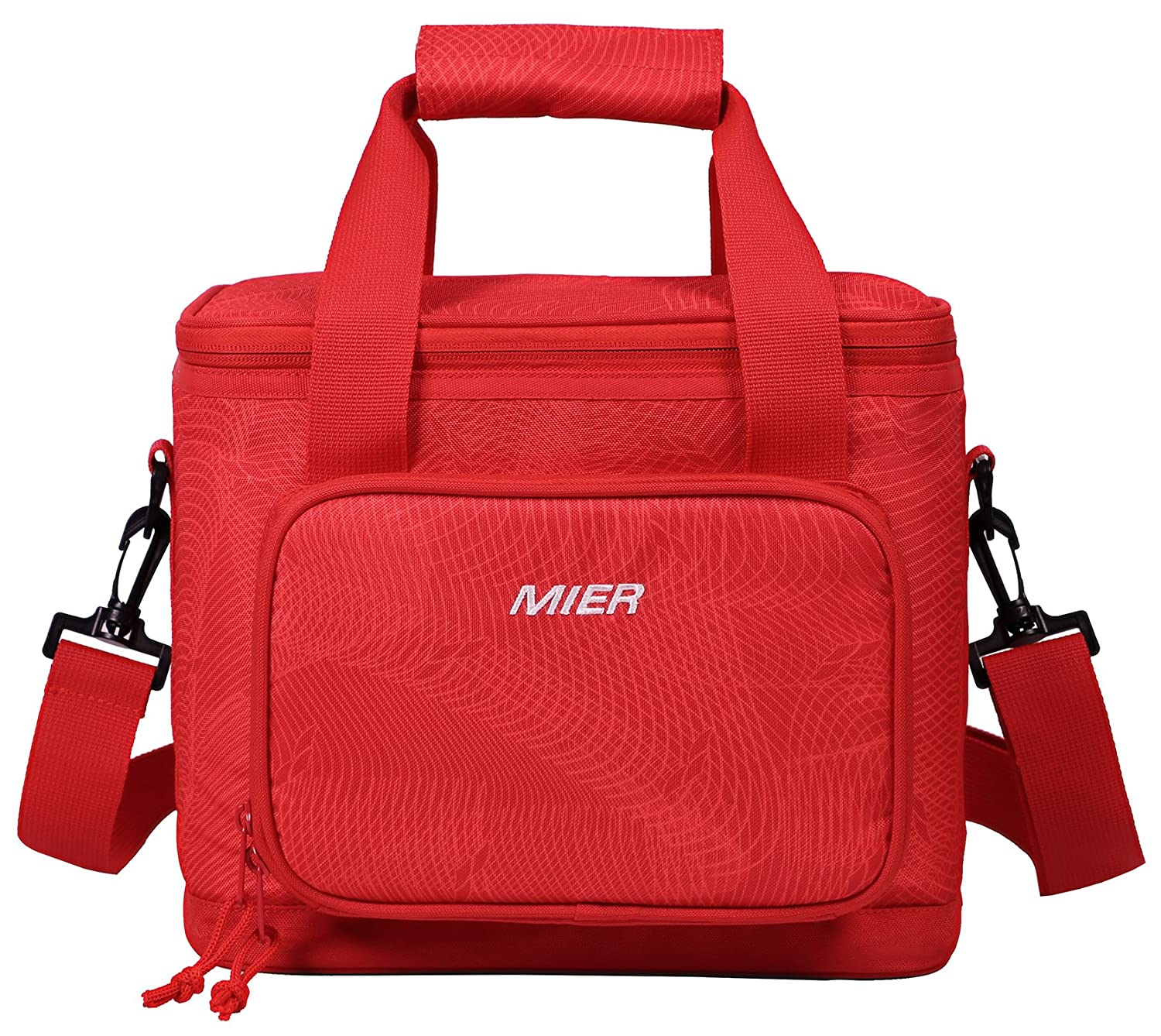 MIER 16 Can Large Insulated Lunch Bag for Women and Men, Soft Leakproof Liner, Blue SYNCHKG093531