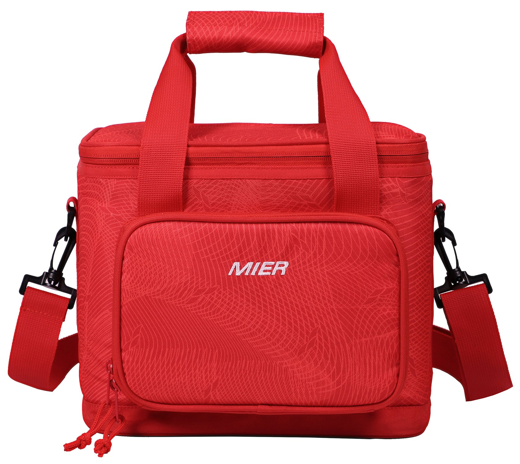 MIER 16 Can Large Insulated Lunch Bag for Women, Soft Leakproof Liner, Red