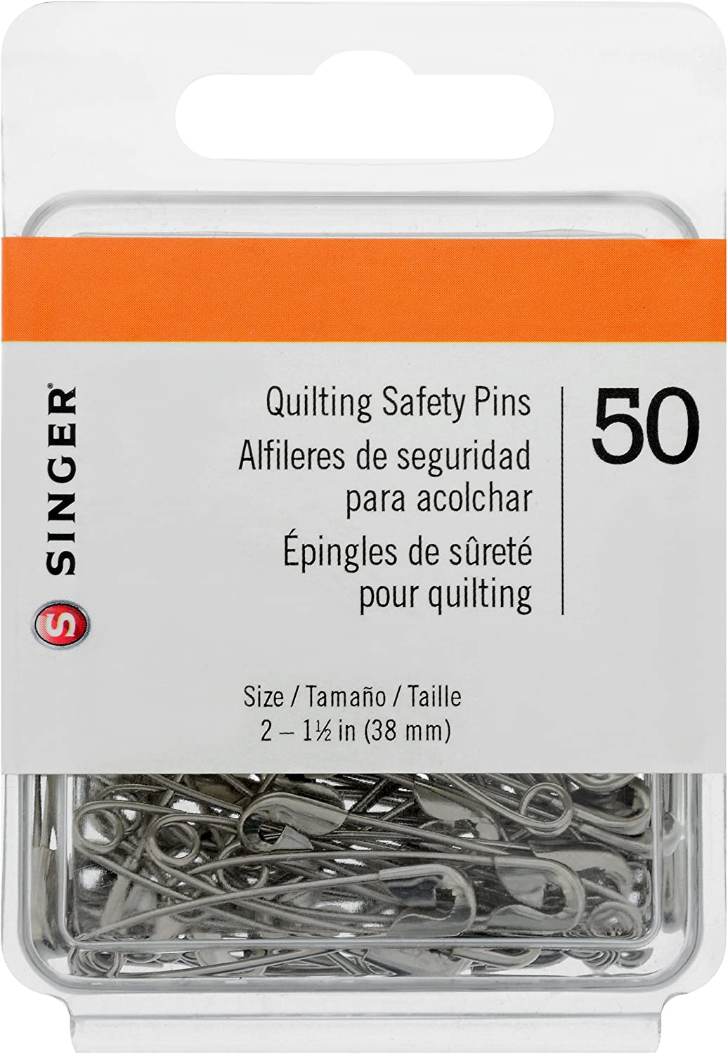 SINGER 00206 Quilting and Craft Safety Pins Size 3 20-Count