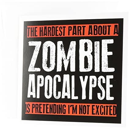 Amazon 3drose the hardest part about a zombie apocalypse 3drose the hardest part about a zombie apocalypse greeting cards set of 6 m4hsunfo