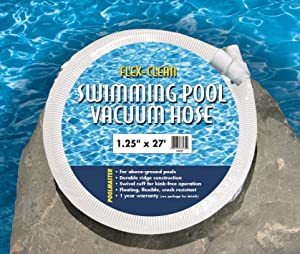 Poolmaster 32227 Above-Ground Swimming Pool Vacuum Hose, 1-1/4-Inch x 27-Feet