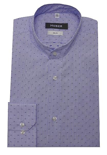 Huber - Camisa Casual - Rayas - Cuello Mao - Manga Larga - para Hombre   Amazon.es  Ropa y accesorios 5904a18be98