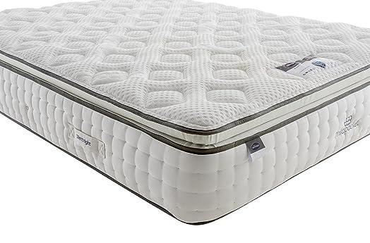 silentnight mirapocket geltex pillow top mattress white double
