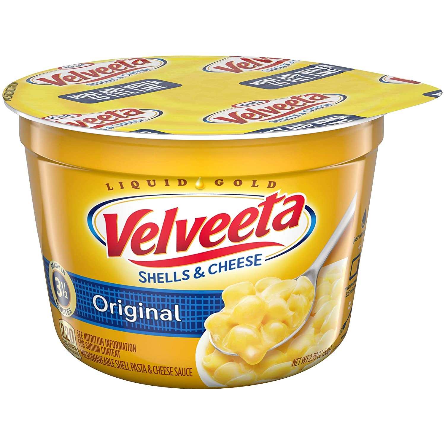 Velveeta Original Shells and Cheese Single Serve Microwave Dinner (2.39 oz Cup)