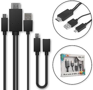 Cable MHL Micro USB al Adaptador de HDMI de 5 Pines + Adaptador de ...