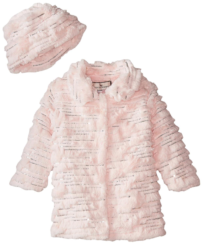 Widgeon Little Girls' Sequin Sparkle Coat with Hat Widgeon Girls 2-6X 3538