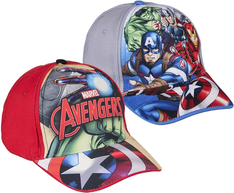 Pack 2 gorras de tela adaptables 2 diseños diferentes AVENGERS ...