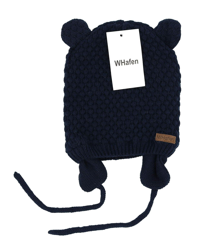 Baby Hat Winter Warm Knit Earflap Cap Beanie Cute Bear Todder for Spring Boys Girls 0-30 Months