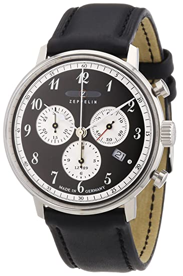 Zeppelin Chrono 7086-2 Reloj elegante para hombres Fabricado en Alemania