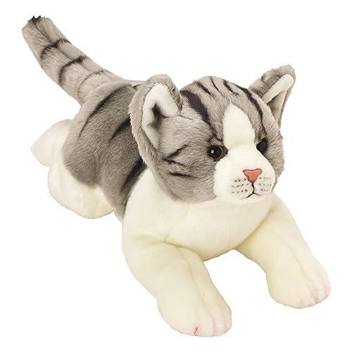 Suki Gifts - 12074 - Peluche - Yomiko - Tabby Cat, Gris/Blanc