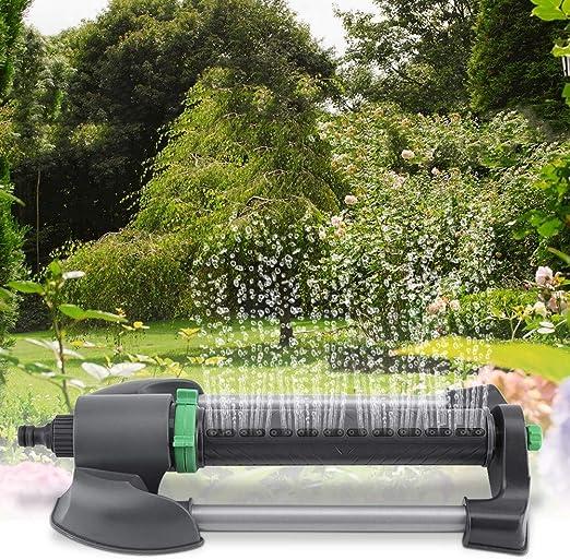 Riego automático de riego oscilante de riego por aspersión oscilante para el campo agrícola del jardín de césped: Amazon.es: Hogar
