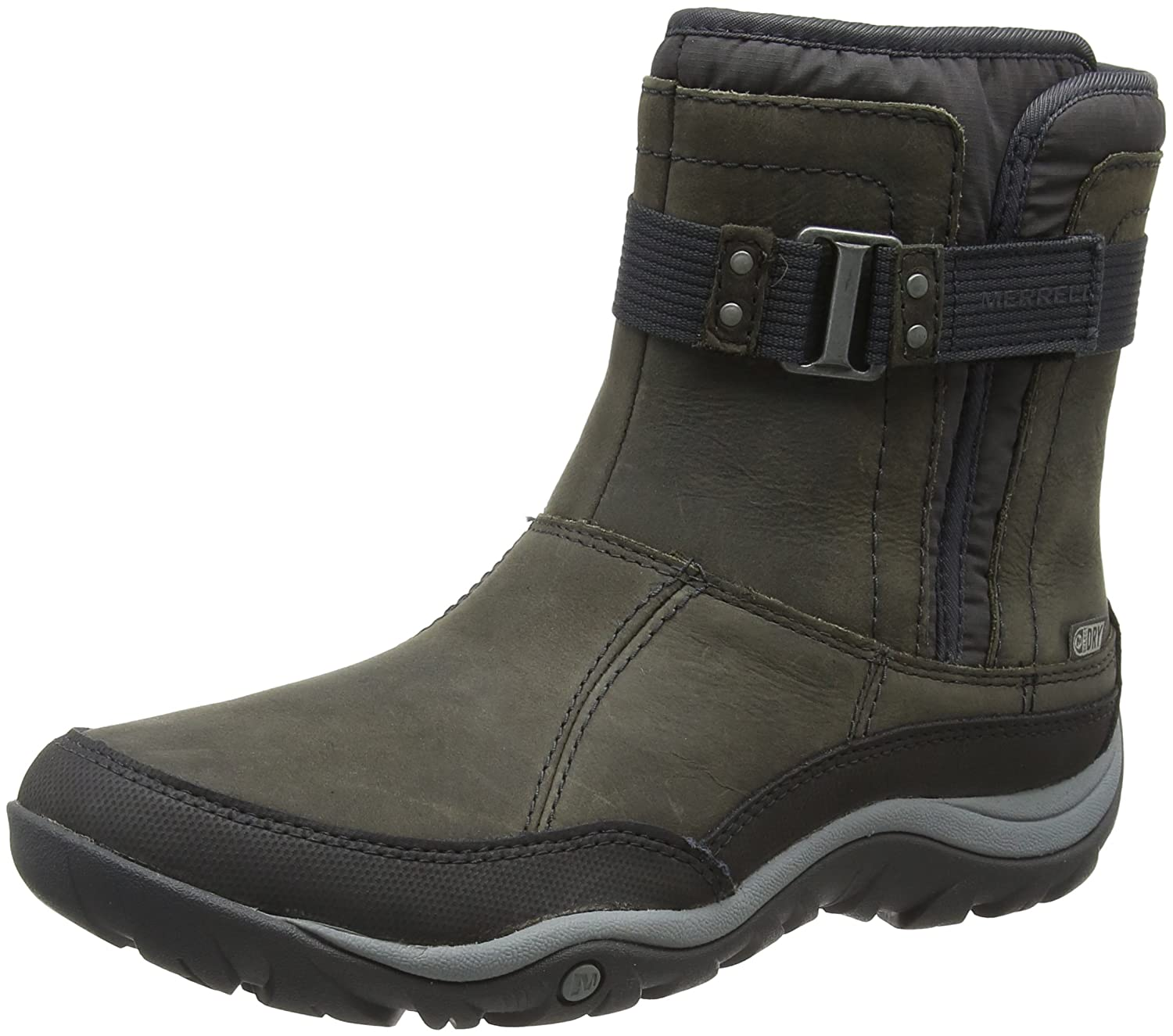 Merrell Women's Murren Strap Waterproof-W Snow Boot B01945I904 8 B(M) US|Pewter