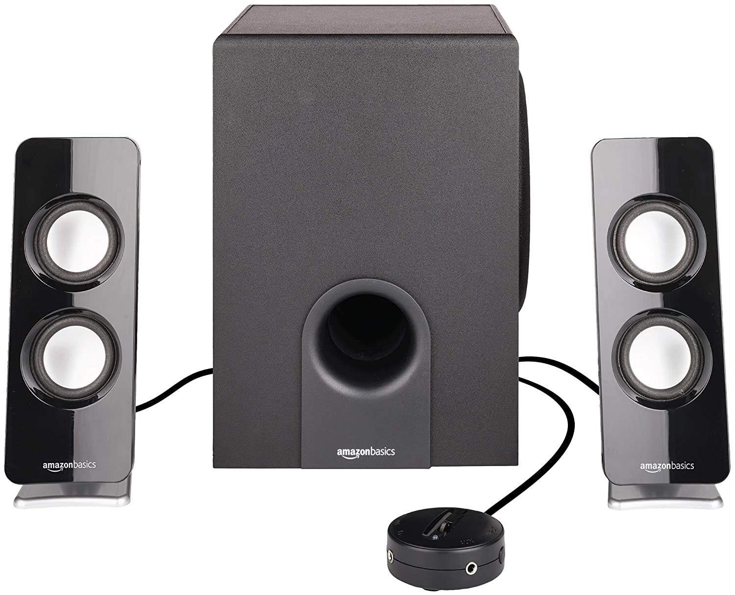 AmazonBasics AC Powered 2.1 30W Bluetooth Speakers with Subwoofer