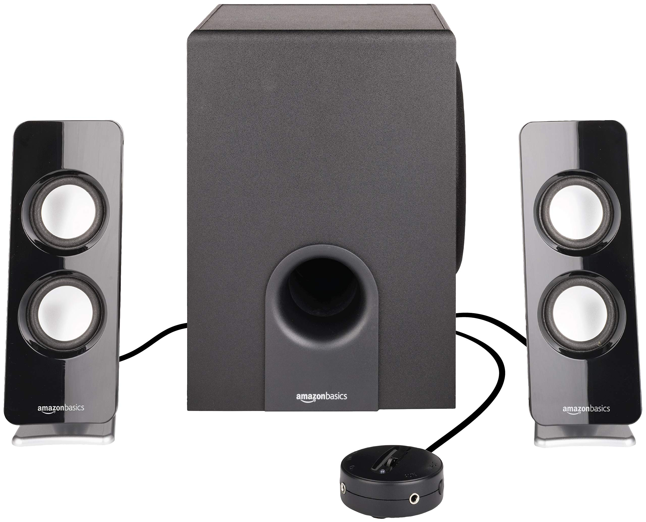 Amazon Basics AC Powered 2.1 30W Bluetooth Computer Speakers with Subwoofer