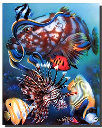 Ocean Wall Decor Tropical Fish Underwater Animal Art Print Poster 16x20