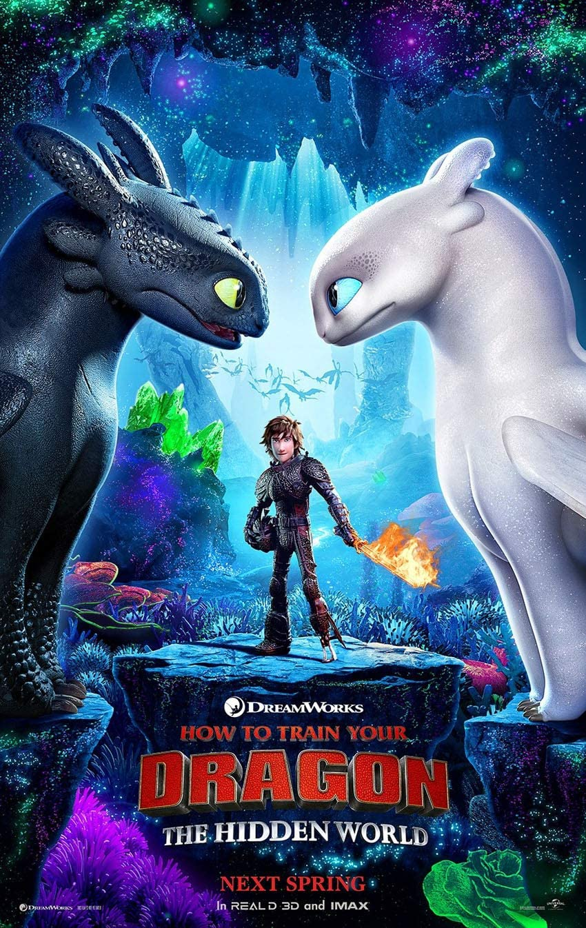 Amazon Com How To Train Your Dragon 3 The Hidden World Movie Poster 2 Sided Original Advance 27x40 Everything Else