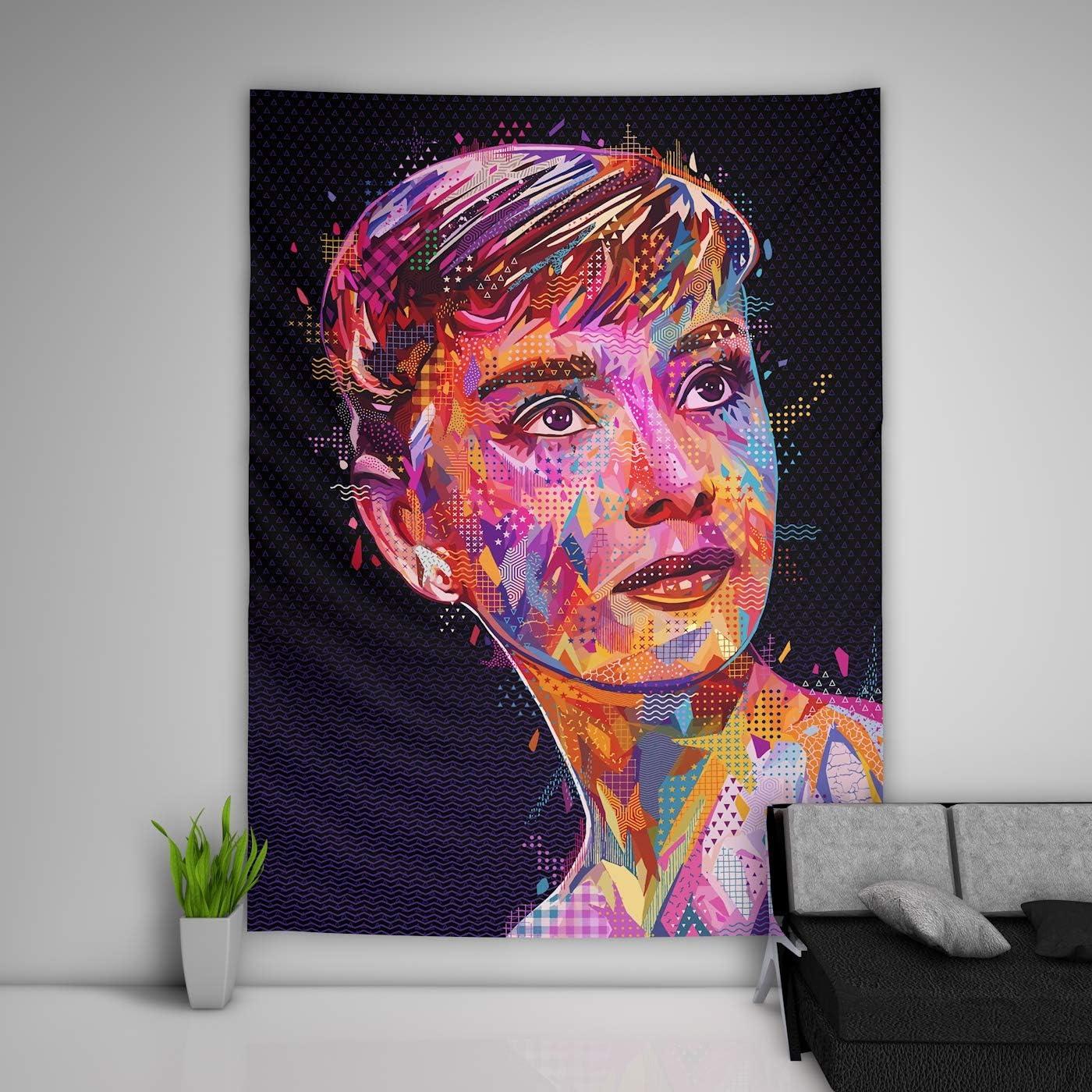 JackGo7 Audrey Hepburn Tapestry Art Wall Hanging Sofa Table Bed Cover Mural Beach Blanket Home Dorm Room Decor Gift