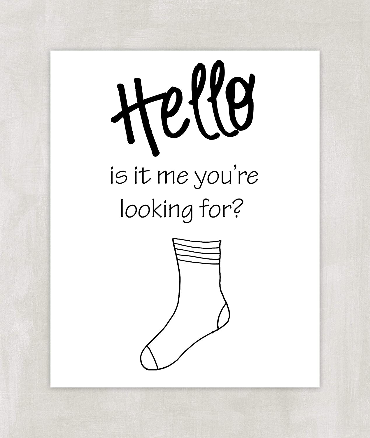 Funny Laundry Room Art Print - Hello Is It Me You're Looking For 8x10 ((Unframed))