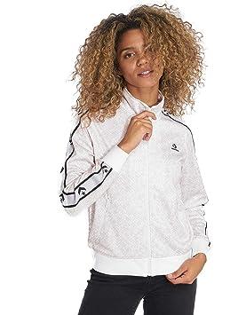 Converse Star Chev Animal Print Track JKT Wht - Chaqueta, Mujer, Blanco(White