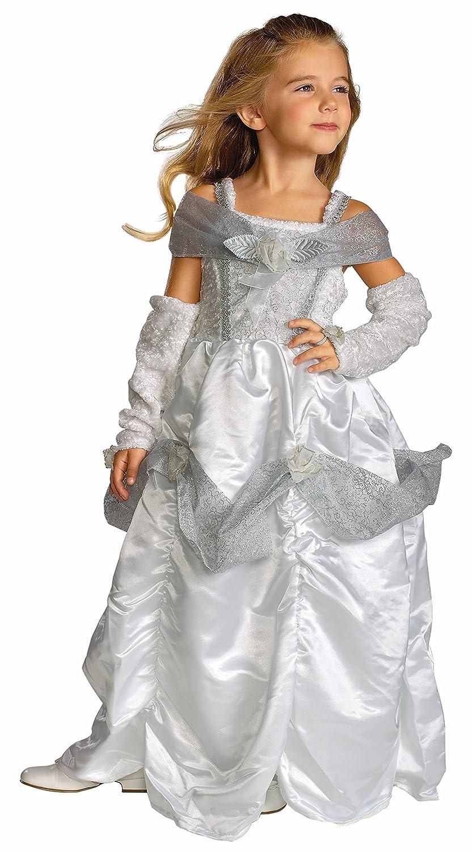 Amazon.com: Rubie's Child's Snow Queen Costume, White, Medium (US ...