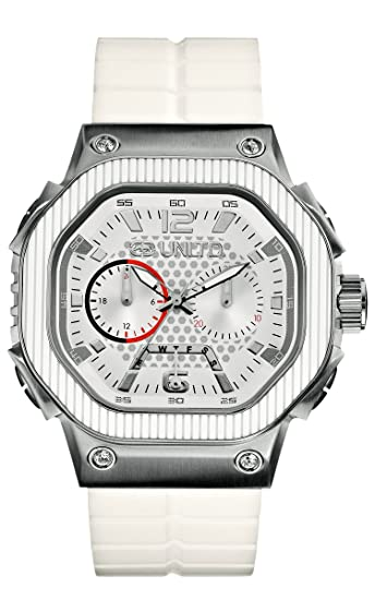 Marc Ecko E16509G1 - Reloj analógico de Cuarzo para Hombre con Correa de Silicona, Color Blanco: Amazon.es: Relojes