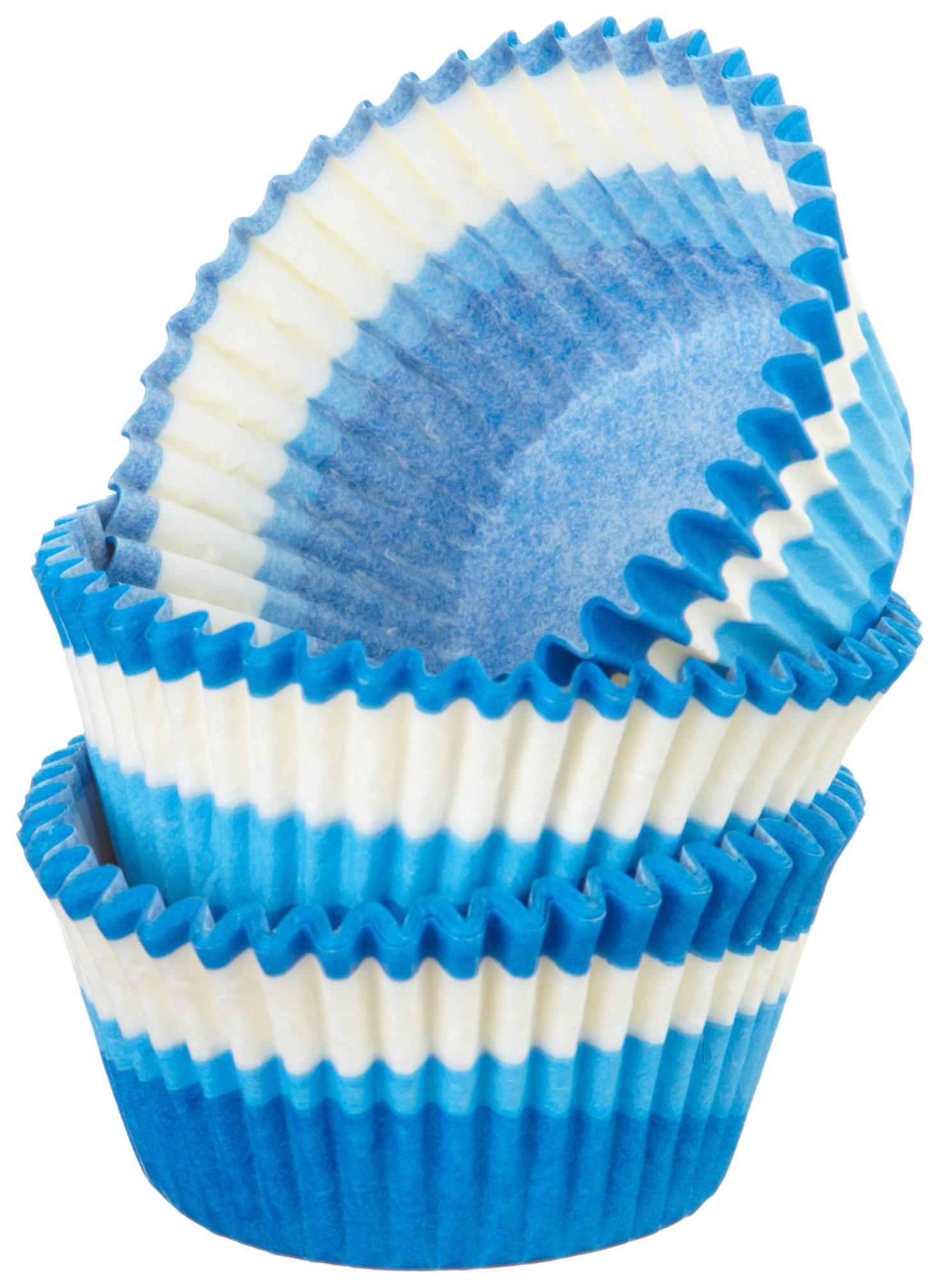 Regency Wraps Greaseproof Baking Cups, Blue Swirl, 40 count, Standard. by Regency Wraps (Image #1)