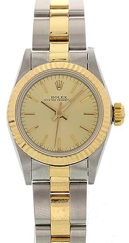 Rolex Oyster Perpetual Automático Viento Auto Reloj 67193 para Mujeres: Rolex: Amazon.es: Relojes