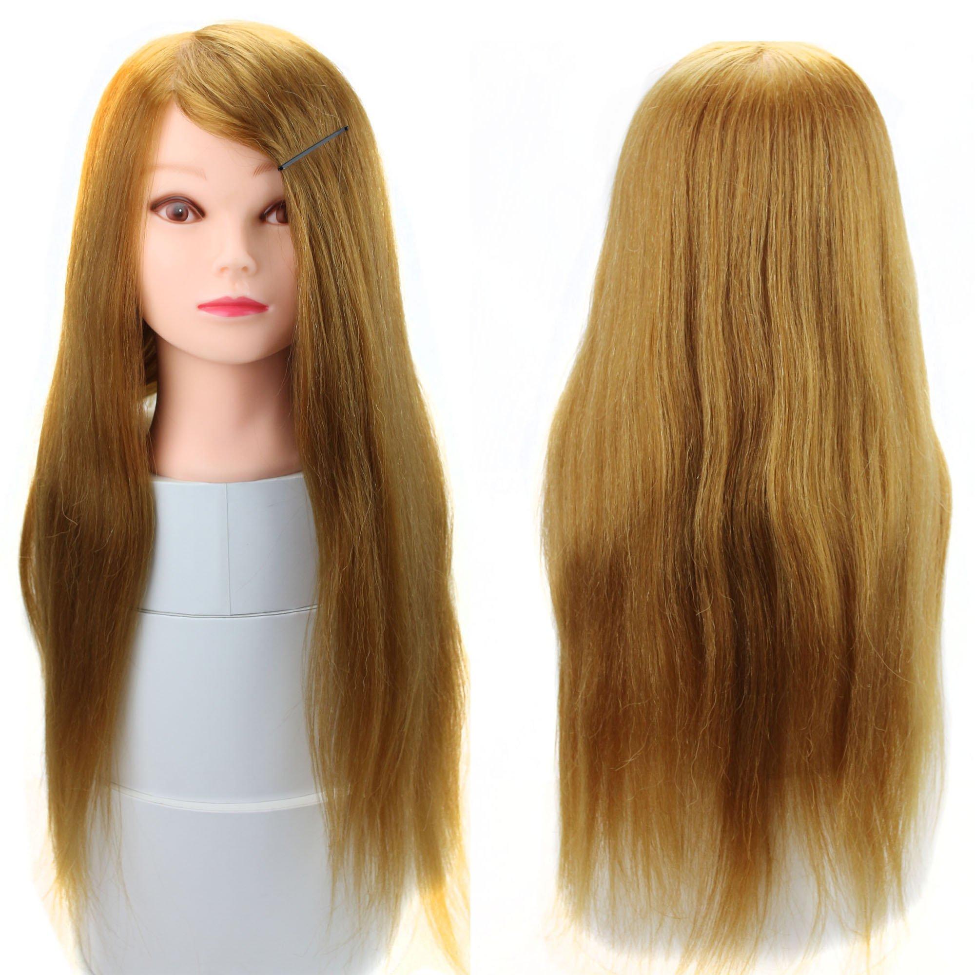 Amazon Luxwig 50 Human Hair Cosmetology Manikin Trainning