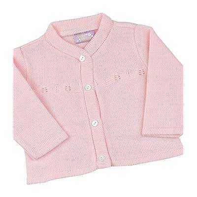 BabyPrem Bébé Cardigan Gilet Classique Vêtements Fille Rose Tricoté Doux 56-80cm