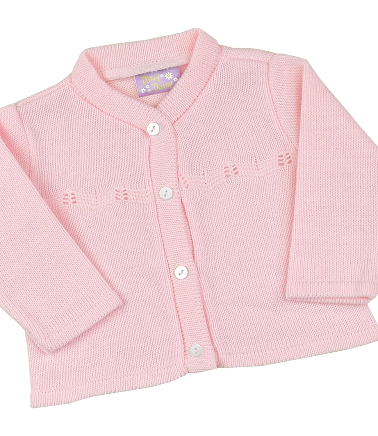 Babyprem Baby Cardigan Jacket Girl Pink Classic Soft Knitted 0-12 Months BEE032