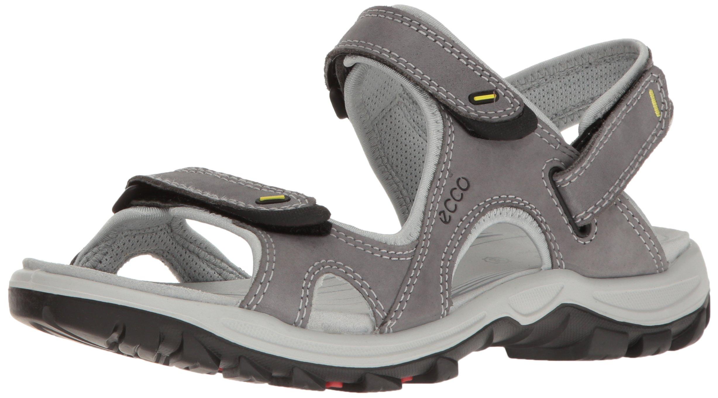 ECCO Women's Offroad Lite Athletic Sandal, Titanium/Concrete, 41 EU/10-10.5 M US