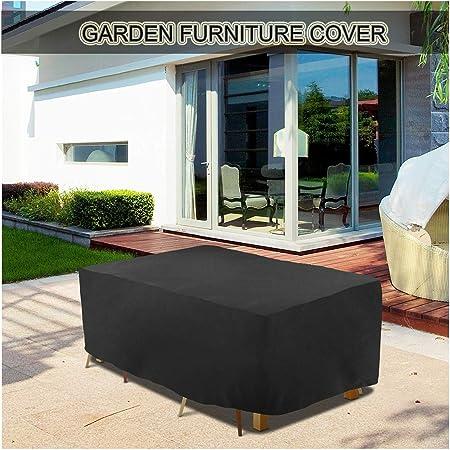 SJMDZZ Funda para Muebles de Jardín Impermeable, Protección contra Lluvia Y Sol Funda para Mesa Rectangular A Prueba de Viento/Impermeable/Anti-UV/A Prueba de Polvo Fundas para Conjuntos de Muebles: Amazon.es: Hogar