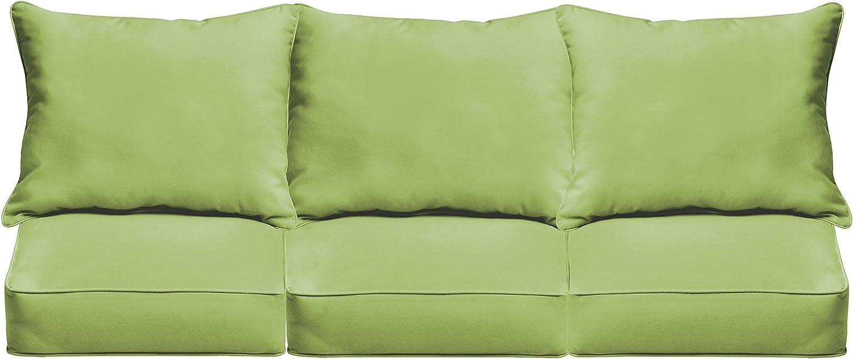 "Mozaic AZPCSET4363 Swavelle Corded Outdoor Sofa Set, 23"" x 25"" x 5"", Apple Green"
