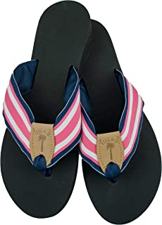 product image for Eliza B. Pink and Navy Ribbon Sandal with Black Sole