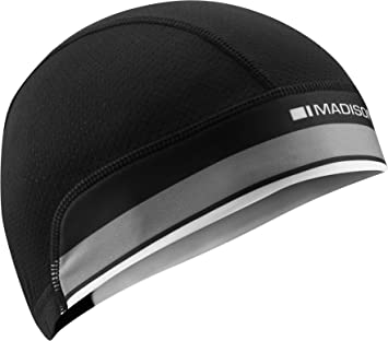 c8cab8176bb Madison Isoler Mesh Cycling Skull Cap - Black Adult Under Helmet Head Gear  Headwear Clothing Clothes Skullcap Lightweight ...