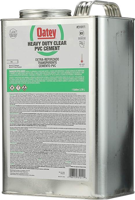 Oatey 30863 PVC Heavy Duty Cement Transparente 8 onzas