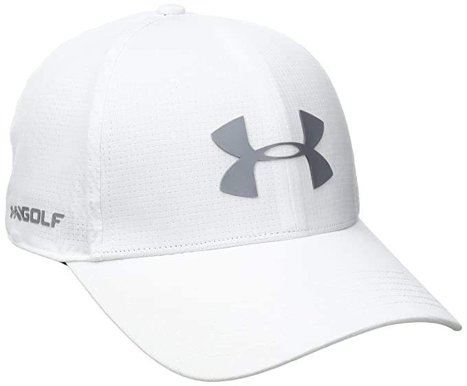 reputable site 3b675 659c3 Under Armour Men s Driver 2.0 Golf Cap, White (100) Steel, One