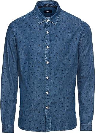 Pepe Jeans - Camisa Harold Hombre Color: Azul Talla: M: Amazon.es: Ropa y accesorios