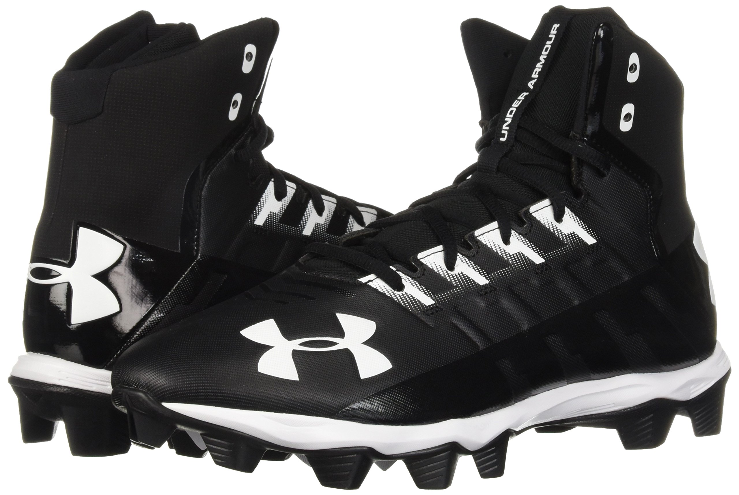 Under Armour Men's Renegade RM Wide Football Shoe 002/Black, 11 W US by Under Armour (Image #5)