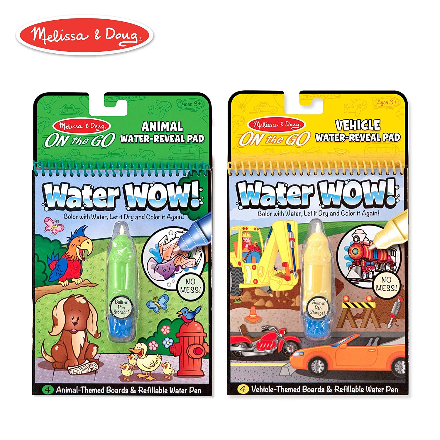 Amazon.com: Melissa & Doug On the Go Water Wow! Reusable Water ...