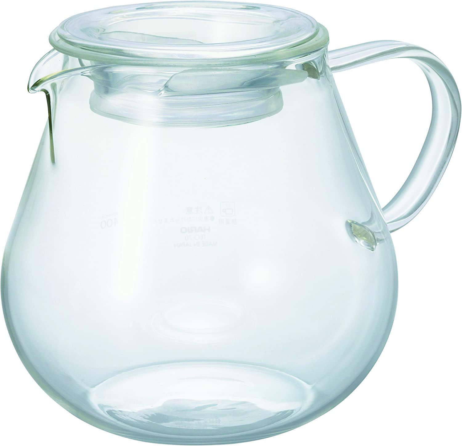 One Size HARIO Gs-70-T Silicone Lid Tightly Integrated With Coffee Pot Transparent Black
