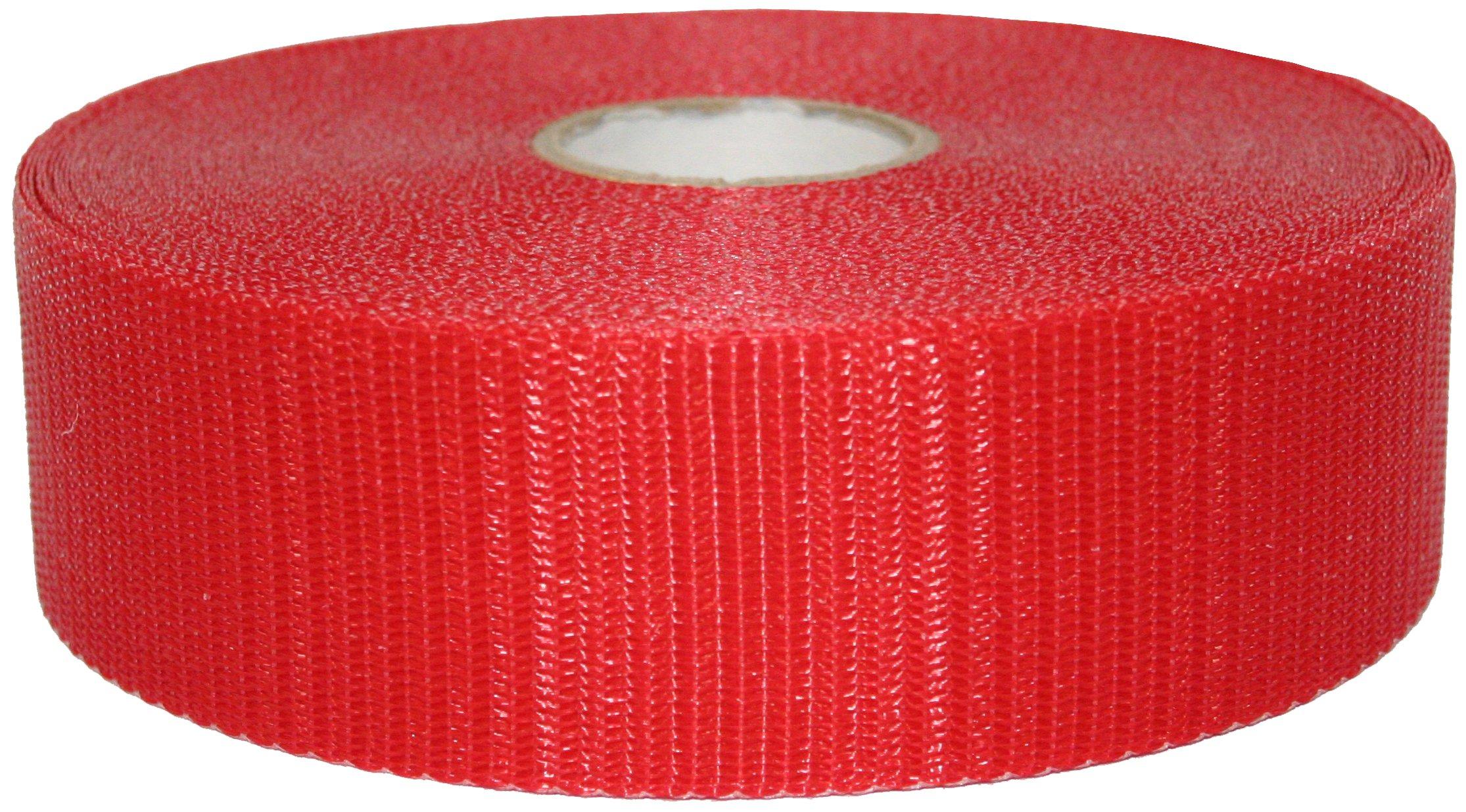 Presco BW2R150-658 150' Length x 2'' Width, Polypropylene, Red Woven Barricade Tape (Pack of 48)
