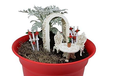 The Crafty Corner Company Fairy Go Round Fairy Garden Set   8 Piece Rose Garden  Set