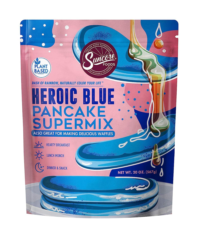 Suncore Foods - Heroic Blue Pancake & Waffe Supermix, No Artificial Colors, No Preservatives, Plant-Based, 20oz