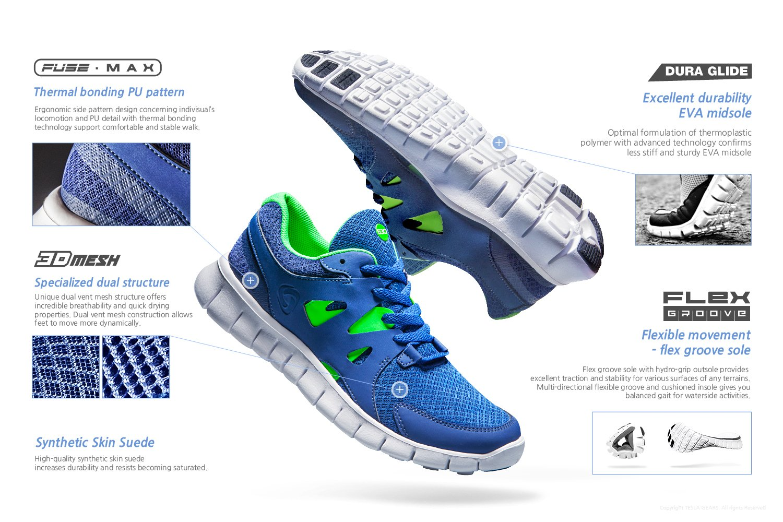 c5e38046dda8f Amazon.com  CLSL TF-E630-BLK 285 Men 10.5 D(M) Tesla Men s Lightweight  Sports Running Shoe E630  Sports   Outdoors